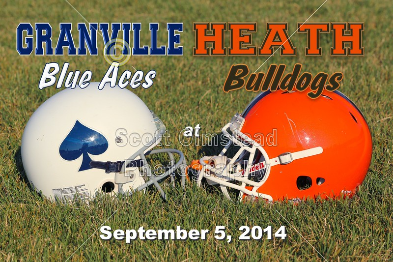 Granville Blue Aces at Heath Bulldogs - Friday, September 5, 2014