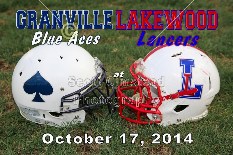 Granville High School Blue Aces at Lakewood High School Lancers - Friday, October 17, 2014