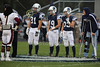 Team Captains and the Coin Toss - Licking Heights High School Hornets at Granville High School Blue Aces - Friday, October 10, 2014