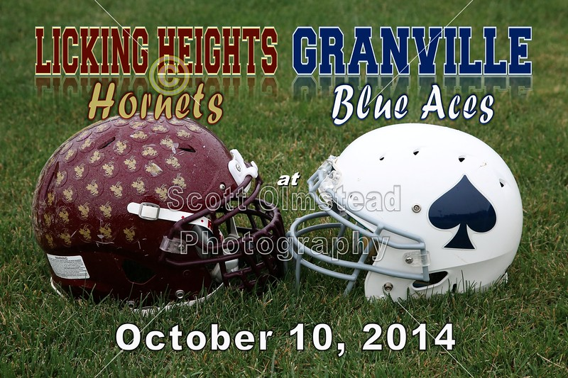 Licking Heights High School Hornets at Granville High School Blue Aces - Friday, October 10, 2014