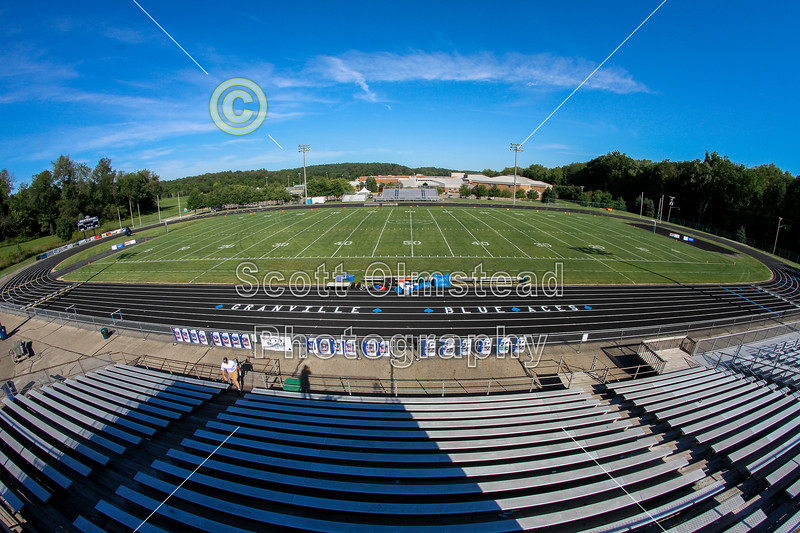 The Ace, Granville High School Football Stadium - Marion River Valley Vikings at Granville Blue Aces - Friday, August 29, 2014