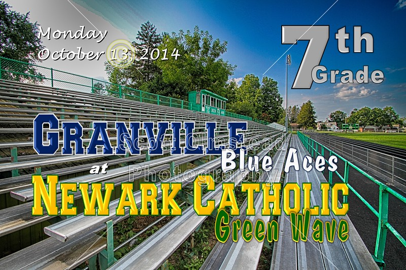 Middle School 7th Grade Football - Granville Blue Aces at Newark Catholic Green Wave - Monday, Octover 13, 2014