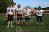 Team Captains and the Coin Toss - Middle School 7th Grade Football - Granville Blue Aces at Newark Catholic Green Wave - Monday, Octover 13, 2014