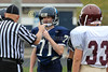 Team Captains and the Coin Toss - Middle School 7th Grade Football - Licking Heights Hornets at Granville Blue Aces - Tuesday, September 30, 2014