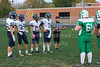 Team Captains and the Coin Toss - Middle School 8th Grade Football - Granville Blue Aces at Newark Catholic Green Wave - Monday, Octover 13, 2014