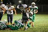 3rd Quarter - Middle School 8th Grade Football - Granville Blue Aces at Newark Catholic Green Wave - Monday, Octover 13, 2014