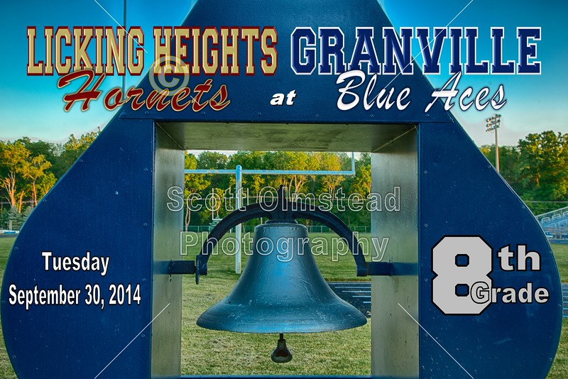 Middle School 8th Grade Football - Licking Heights Hornets at Granville Blue Aces - Tuesday, September 30, 2014