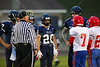 Team Captains and the Coin Toss - Middle School 8th Grade Football - Licking Valley Panthers at Granville Blue Aces - Tuesday, October 21, 2014