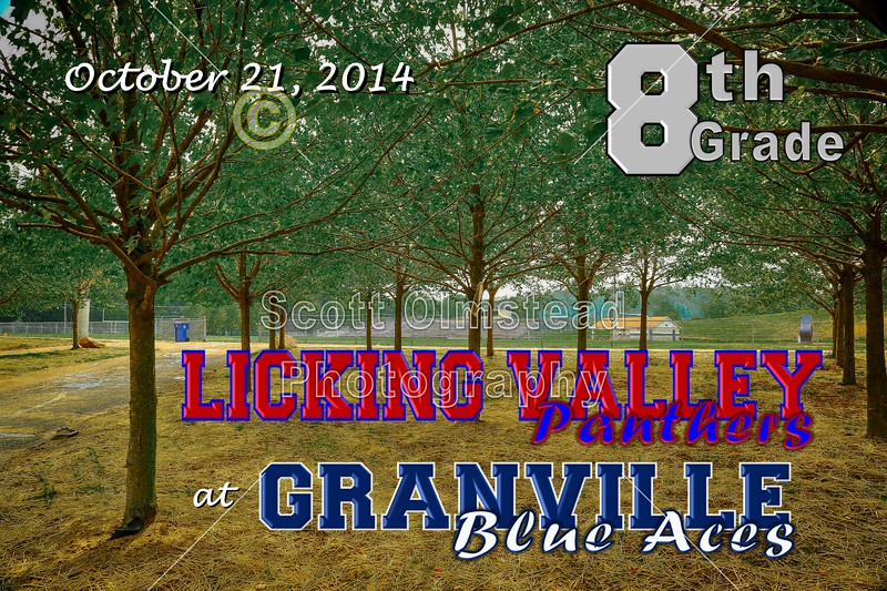 Middle School 8th Grade Football - Licking Valley Panthers at Granville Blue Aces - Tuesday, October 21, 2014