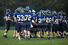 The Blue Aces take the Field - Middle School 8th Grade Football - Licking Valley Panthers at Granville Blue Aces - Tuesday, October 21, 2014