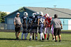 Team Captains and the Coin Toss - Freshmen Football - Granville High School Blue Aces at Lakewood High School Lancers - Monday, September 14, 2015