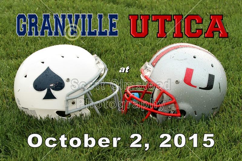 Granville High School Blue Aces at Utica High School Redskins - Friday, October 2, 2015