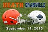 Heath High School Bulldogs at Granville High School Blue Aces - Friday, September 11, 2015