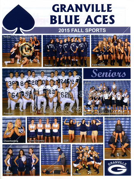 Official Gameday Program - Johnstown High School Johnnies at Granville High School Blue Aces - Friday, September 25, 2015