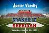 Junior Varsity - Granville High School Blue Aces at Sheridan High School Generals - Saturday, August 29, 2015