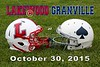 Lakewood High School Lancers at Granville High School Blue Aces - Friday, October 30, 2015