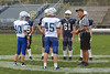 Team Captains and the Coin Toss - Olentangy Liberty High School Pioneers at Granville High School Blue Aces - Freshmen and Sophomore Team - Thursday, October 15, 2015