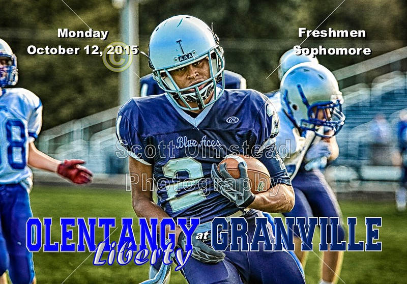 Olentangy Liberty High School Pioneers at Granville High School Blue Aces - Freshmen and Sophomore Team - Thursday, October 15, 2015