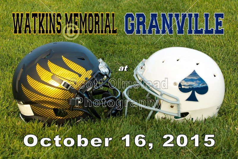 Watkins Memorial High School Warriors at Granville High School Blue Aces - Friday, October 16, 2015