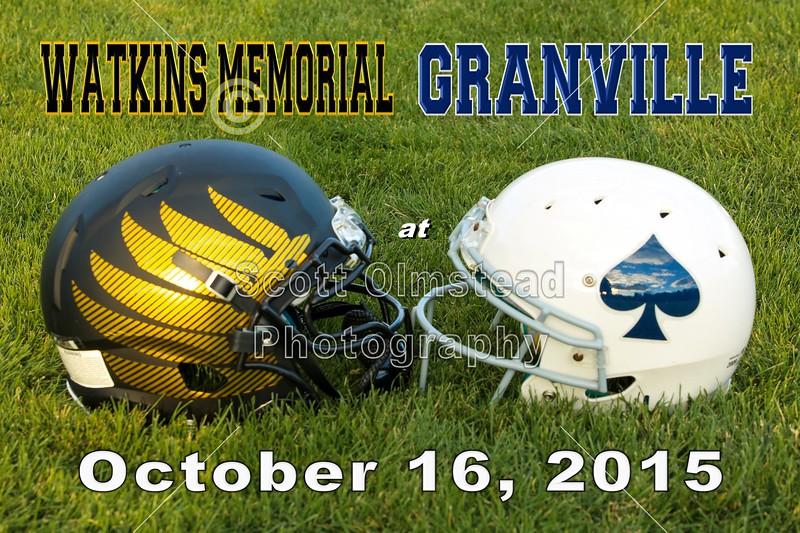 Watkins Memorial High School Warriors at Granville High School Blue Aces - Friday, October 16, 2015