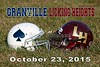 Granville High School Blue Aces at Licking Heights High School Hornets - Friday, October 23, 2015
