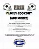 2016 Annual Football Family Cookout Featuring the Cheerleaders and Football Players of the Blue Aces of Granville High School - Friday, June 3, 2016