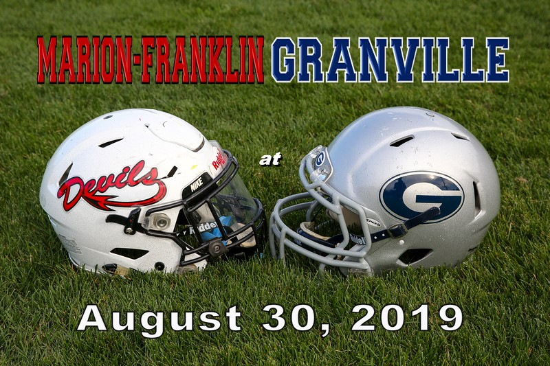 Marion-Franklin High School Red Devils at Granville High School Blue Aces - Friday, August 30, 2019