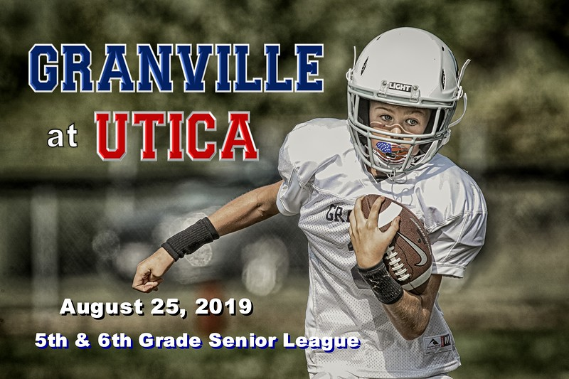 "5th & 5th Grade ""Senior League"" Football - Granville Blue Aces at Utica Redskins - Sunday, August 25, 2019"