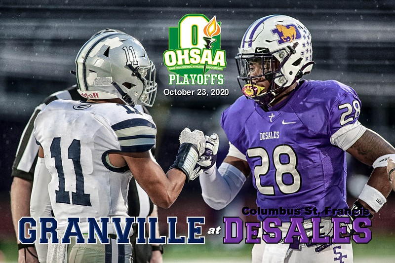 O.H.S.A.A. State Playoffs - Granville High School Blue Aces at Columbus St. Francis DeSales High School Stallions - Friday, October 23, 2020