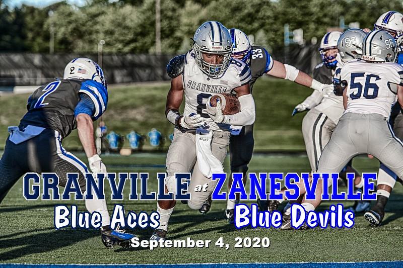 Granville High School Blue Aces at Zanesville High School Blue Devils - Friday, September 4, 2020