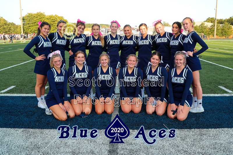 The Blue Aces Cheerleaders - Johnstown High School Johnnies at Granville High School Blue Aces - The 106th Meeting in The Battle for The Jug - Friday, September 25, 2020
