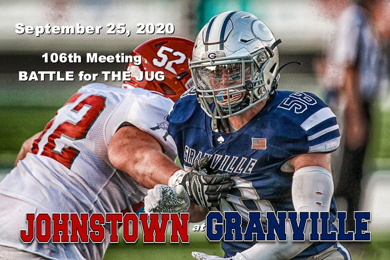 Johnstown High School Johnnies at Granville High School Blue Aces - The 106th Meeting in The Battle for The Jug - Friday, September 25, 2020