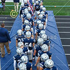 The Blue Aces Enter the Stadium - Licking Heights High School Hornets at Granville High School Blue Aces - Homecoming - Friday, October 2, 2020