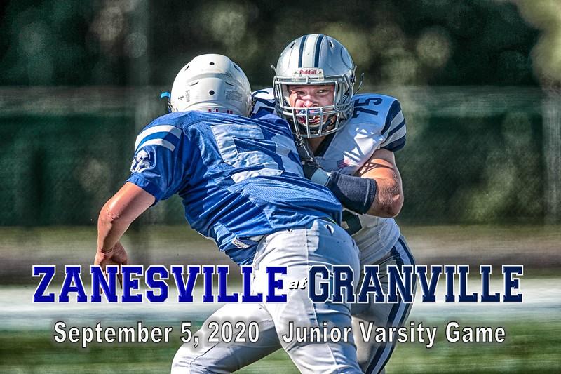 Junior Varsity - Zanesville High School Blue Devils at Granville High School Blue Aces - Saturday, September 5, 2020