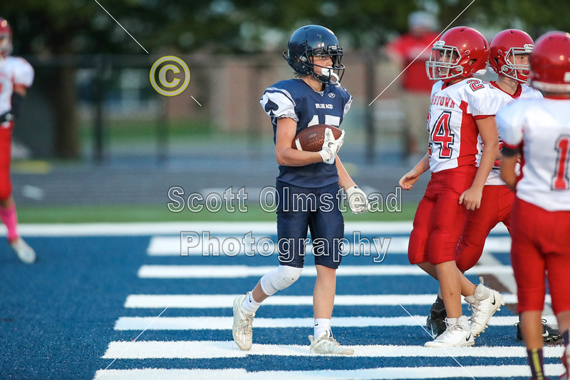 3rd Quarter - 8th Grade Football - Johnstown Middle School Johnnies at Granville Middle School Blue Aces - Wednesday, September 9, 2020