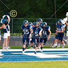 The Blue Aces Take the Field - 8th Grade Football - Johnstown Middle School Johnnies at Granville Middle School Blue Aces - Wednesday, September 9, 2020
