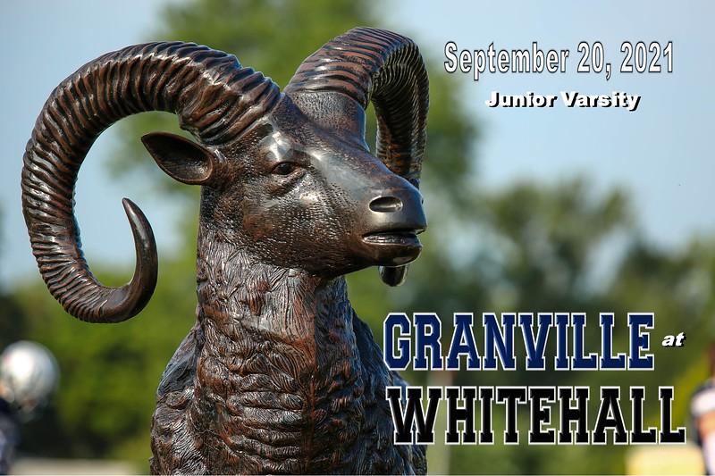 Junior Varsity - Granville High School Blue Aces at Whitehall High School Rams - Saturday, August 21, 2021