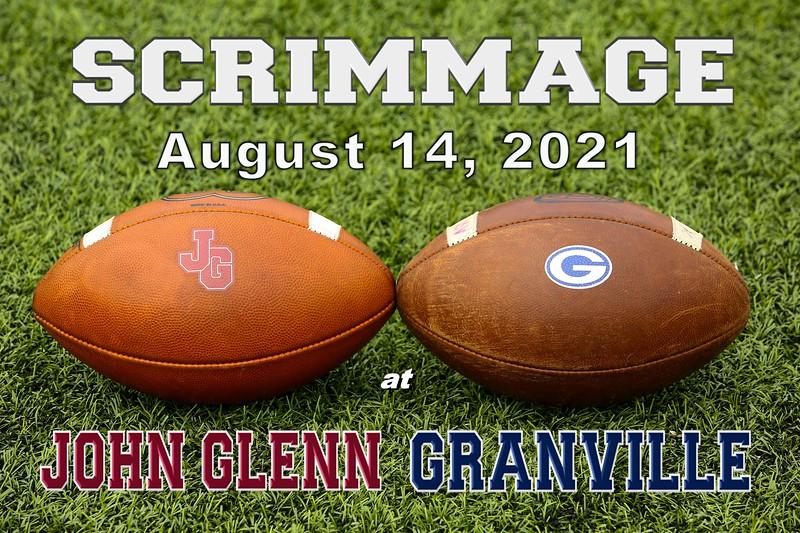 Scrimmage - John Glenn High School Little Muskies at Granville High School Blue Aces (Saturday, August 14, 2021)