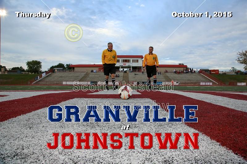 Granville High School Blue Aces at Johnstown High School Johnnies - Thursday, October 1, 2015