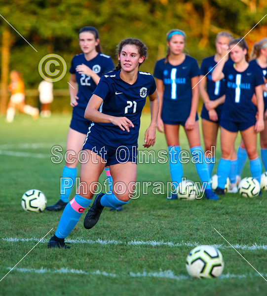 Pregame Warm-Ups - Senior Night - Bishop Hartley High School Hawks at Granville High School Blue Aces - Tuesday, September 8, 2020