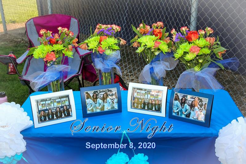 Senior Night - Bishop Hartley High School Hawks at Granville High School Blue Aces - Tuesday, September 8, 2020