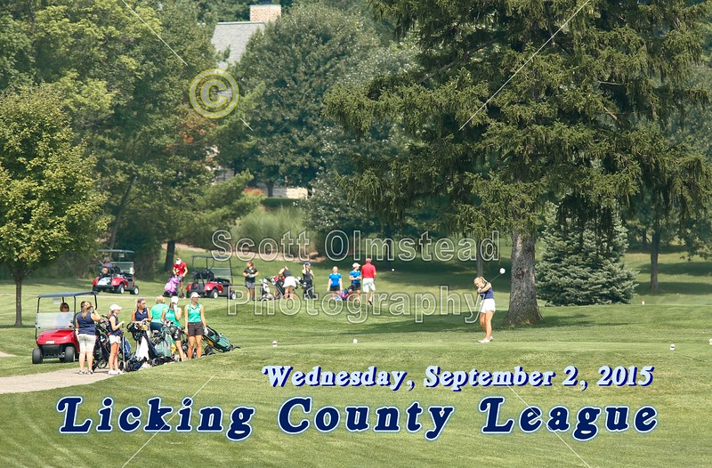 Licking County League Tournament held at the Denison Golf Club at Granville - Featuring the Granville High School Blue Aces - Wednesday, September 2, 1015