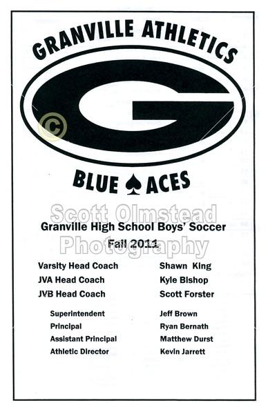 Game Program - Thursday, October 6, 2011 - Columbus Academy Vikings at Granville Blue Aces
