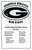 Game Program - Thursday, August 25, 2011 - Watkins Memorial Warriors at Granville Blue Aces
