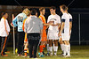 Team Captains and the Coin Toss - Heath High School Bulldogs at Granville High School Bulldogs - OHSAA State Tournament - Thursday, October 22, 2015