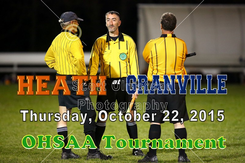 Heath High School Bulldogs at Granville High School Bulldogs - OHSAA State Tournament - Thursday, October 22, 2015