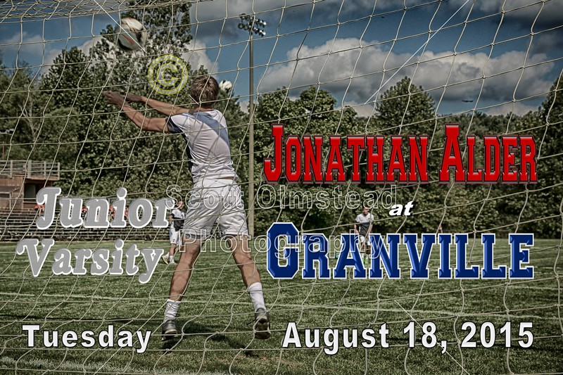 Junior Varsity - Jonathan Alder High School Pioneers at Granville High School Blue Aces - Tuesday, August 18, 2015