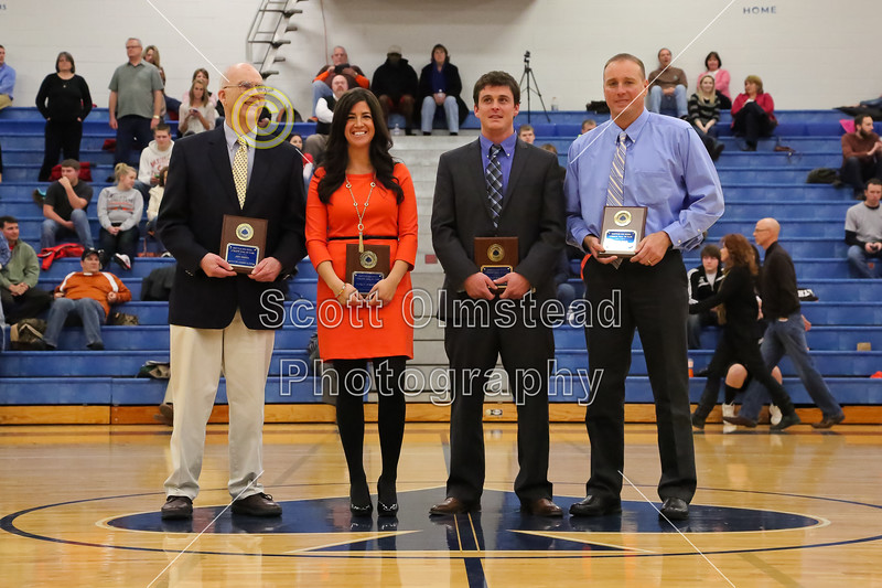 Inductees ot the Granville High School Athletic Hall of Fame Class of 2013 - Friday, January 18, 2013 - Heath Bulldogs at Granville Blue Aces - GHS Athletics Hall of Fame Night