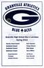 Official Game Program - Saturday, April 27, 2013 - Kent Roosevelt Rough Riders at Granville Blue Aces