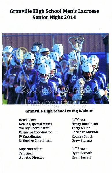 Senior Night - Friday, May 16, 2014 - Buckeye Valley Barons at Granville Blue Aces